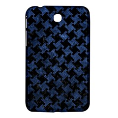 Houndstooth2 Black Marble & Blue Stone Samsung Galaxy Tab 3 (7 ) P3200 Hardshell Case  by trendistuff
