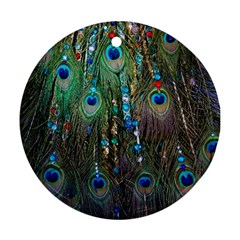 Peacock Jewelery Ornament (round) by Simbadda
