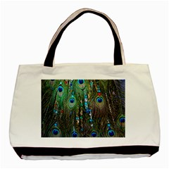 Peacock Jewelery Basic Tote Bag (two Sides) by Simbadda