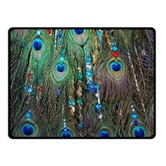 Peacock Jewelery Fleece Blanket (small) by Simbadda