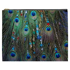 Peacock Jewelery Cosmetic Bag (xxxl)  by Simbadda