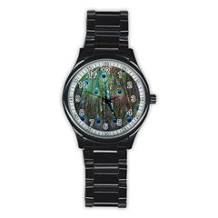 Peacock Jewelery Stainless Steel Round Watch by Simbadda