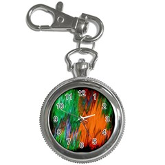 Watercolor Grunge Background Key Chain Watches by Simbadda