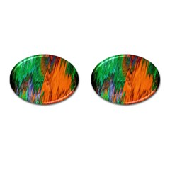 Watercolor Grunge Background Cufflinks (oval) by Simbadda