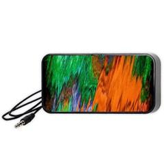 Watercolor Grunge Background Portable Speaker (black) by Simbadda