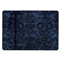Damask2 Black Marble & Blue Stone (r) Samsung Galaxy Tab 10 1  P7500 Flip Case by trendistuff