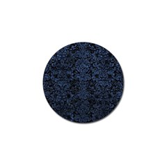 Damask2 Black Marble & Blue Stone Golf Ball Marker by trendistuff