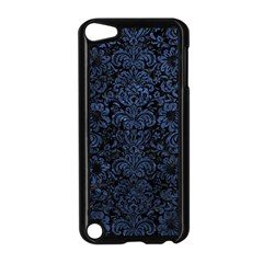 Damask2 Black Marble & Blue Stone Apple Ipod Touch 5 Case (black) by trendistuff