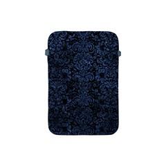Damask2 Black Marble & Blue Stone Apple Ipad Mini Protective Soft Case by trendistuff
