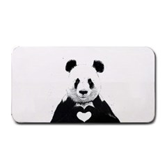 Panda Love Heart Medium Bar Mats by Onesevenart