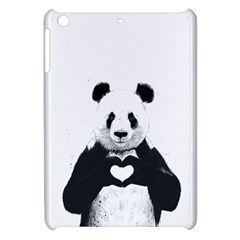 Panda Love Heart Apple Ipad Mini Hardshell Case by Onesevenart