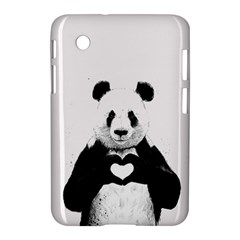 Panda Love Heart Samsung Galaxy Tab 2 (7 ) P3100 Hardshell Case  by Onesevenart