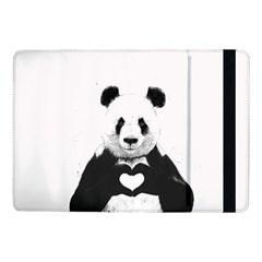 Panda Love Heart Samsung Galaxy Tab Pro 10 1  Flip Case by Onesevenart