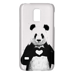 Panda Love Heart Galaxy S5 Mini by Onesevenart