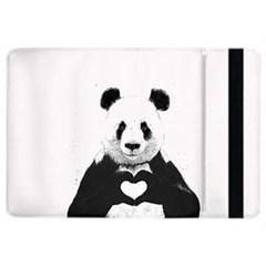 Panda Love Heart Ipad Air 2 Flip by Onesevenart