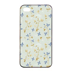 Vintage Hand Drawn Floral Background Apple Iphone 4/4s Seamless Case (black) by TastefulDesigns