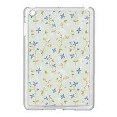 Vintage Hand Drawn Floral Background Apple Ipad Mini Case (white) by TastefulDesigns