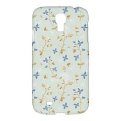 Vintage Hand Drawn Floral Background Samsung Galaxy S4 I9500/i9505 Hardshell Case by TastefulDesigns