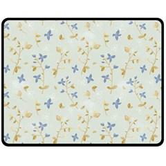Vintage Hand Drawn Floral Background Double Sided Fleece Blanket (medium)  by TastefulDesigns