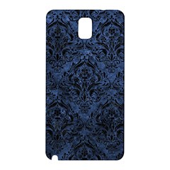 Damask1 Black Marble & Blue Stone (r) Samsung Galaxy Note 3 N9005 Hardshell Back Case by trendistuff