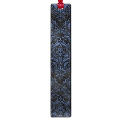 Damask1 Black Marble & Blue Stone Large Book Mark by trendistuff