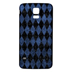 Diamond1 Black Marble & Blue Stone Samsung Galaxy S5 Back Case (white) by trendistuff