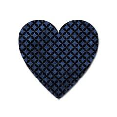 CIR3 BK-MRBL BL-STONE (R) Heart Magnet by trendistuff