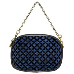 Circles3 Black Marble & Blue Stone (r) Chain Purse (two Sides) by trendistuff