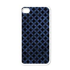 Circles3 Black Marble & Blue Stone Apple Iphone 4 Case (white) by trendistuff