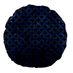 Circles3 Black Marble & Blue Stone Large 18  Premium Flano Round Cushion  by trendistuff