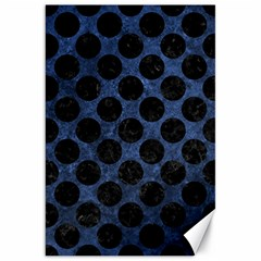Circles2 Black Marble & Blue Stone (r) Canvas 20  X 30  by trendistuff