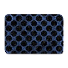 Circles2 Black Marble & Blue Stone (r) Plate Mat by trendistuff