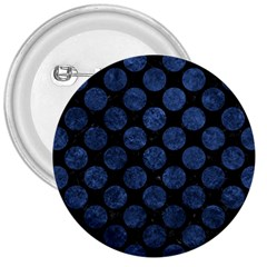 Circles2 Black Marble & Blue Stone 3  Button by trendistuff