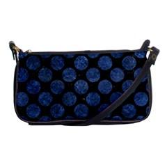 Circles2 Black Marble & Blue Stone Shoulder Clutch Bag by trendistuff
