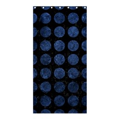 Circles1 Black Marble & Blue Stone Shower Curtain 36  X 72  (stall) by trendistuff