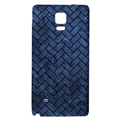 Brick2 Black Marble & Blue Stone (r) Samsung Note 4 Hardshell Back Case by trendistuff
