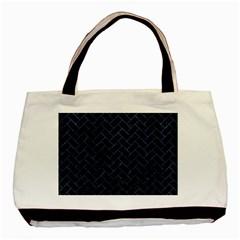 Brick2 Black Marble & Blue Stone Basic Tote Bag (two Sides) by trendistuff