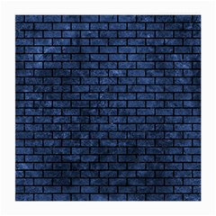 Brick1 Black Marble & Blue Stone (r) Medium Glasses Cloth (2 Sides) by trendistuff