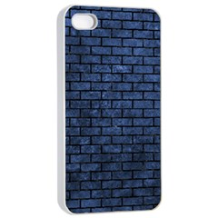 Brick1 Black Marble & Blue Stone (r) Apple Iphone 4/4s Seamless Case (white) by trendistuff