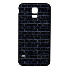 Brick1 Black Marble & Blue Stone Samsung Galaxy S5 Back Case (white) by trendistuff