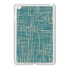 Hand Drawn Lines Background In Vintage Style Apple Ipad Mini Case (white) by TastefulDesigns