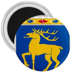 Coat Of Arms Of Aland 3  Magnets by abbeyz71