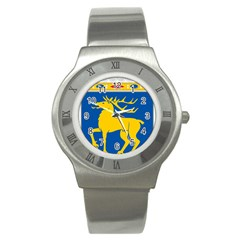 Coat Of Arms Of Aland Stainless Steel Watch by abbeyz71