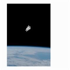 Amazing Stunning Astronaut Amazed Small Garden Flag (two Sides) by Simbadda