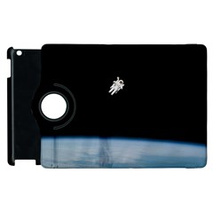Amazing Stunning Astronaut Amazed Apple Ipad 2 Flip 360 Case by Simbadda
