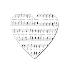 Jingle Bells Song Christmas Carol Heart Magnet by Simbadda
