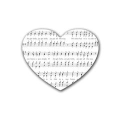 Jingle Bells Song Christmas Carol Heart Coaster (4 Pack)  by Simbadda