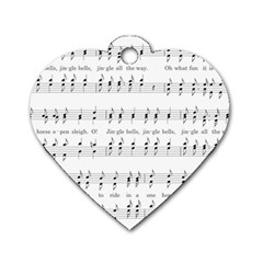 Jingle Bells Song Christmas Carol Dog Tag Heart (one Side) by Simbadda