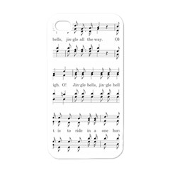 Jingle Bells Song Christmas Carol Apple Iphone 4 Case (white) by Simbadda