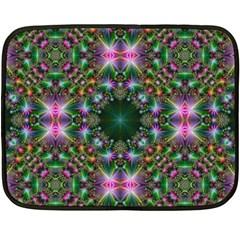 Digital Kaleidoscope Double Sided Fleece Blanket (mini)  by Simbadda
